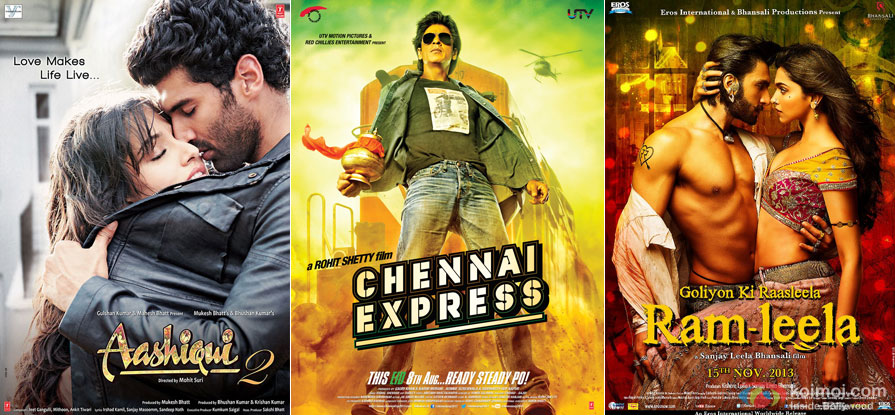 Aashiqui 2, Chennai Express and Ramleela Movie Poster