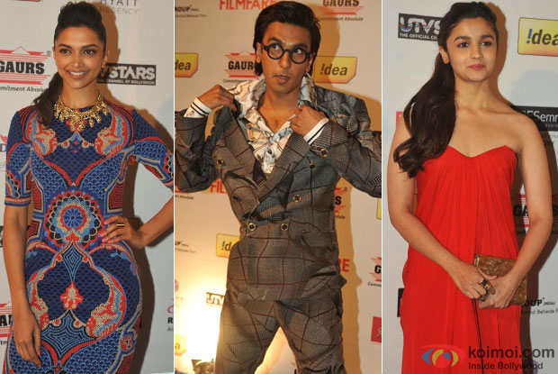 Deepika Padukone, Ranveer Singh and Alia Bhatt at Filmfare Pre-Awards Party