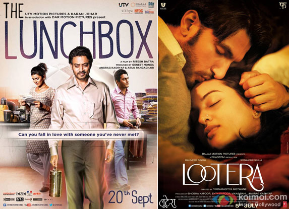 The Lunchbox and Lootera Movie Poster