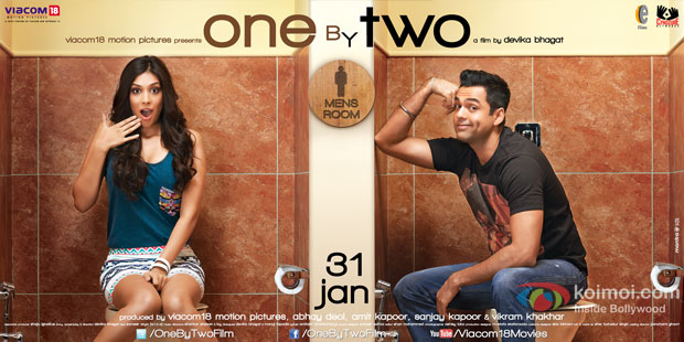 Preeti Desai and Abhay Deol starrer 'One By Two' Movie Poster