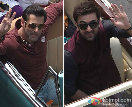Salman Khan and Ranbir Kapoor at Republic Day Parade