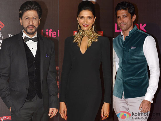 Shah Rukh Khan, Deepika Padukone and Farhan Akhtar at the 20th Annual Screen Awards