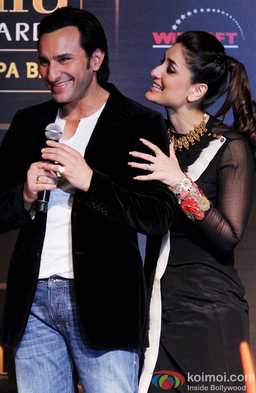 Saif Ali Khan and Kareena Kapoor during the IIFA Press Conference