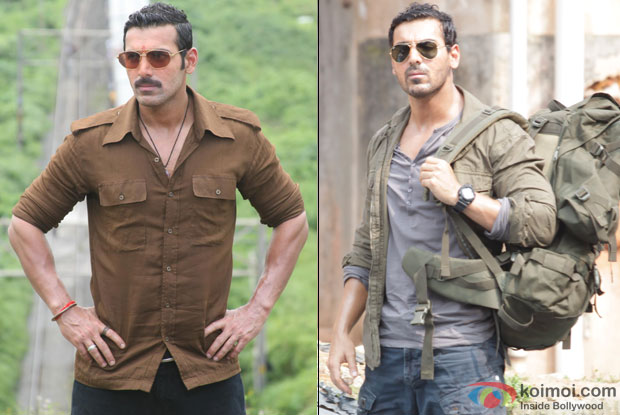 John Abraham in a still from movie 'Shootout At Wadala' and 'Madras Cafe'