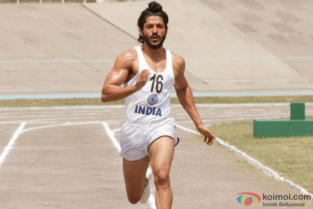 Farhan Akhtar in a still from mvovie 'Bhaag Milkha Bhaag'