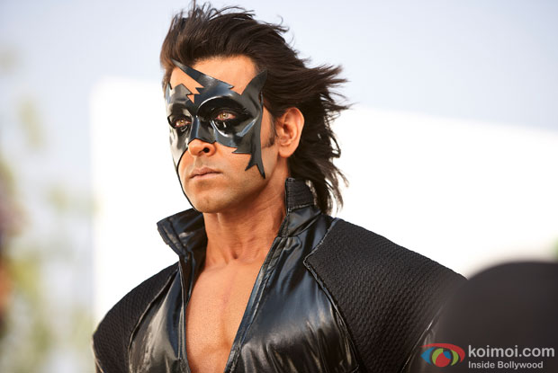 Hrithik Roshan in a still from movie 'Krrish 3'