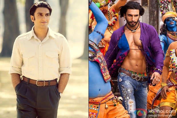 Ranveer Singh in a still from movie 'Lootera' and 'Goliyon Ki Raasleela - Ramleela'