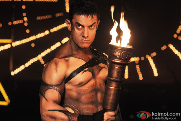 Aamir Khan in a still from movie 'Dhoom 3'