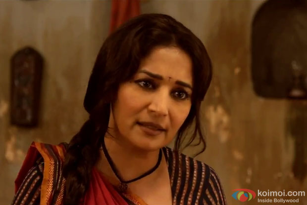 Madhuri Dixit in a still from movie 'Gulaab Gang'