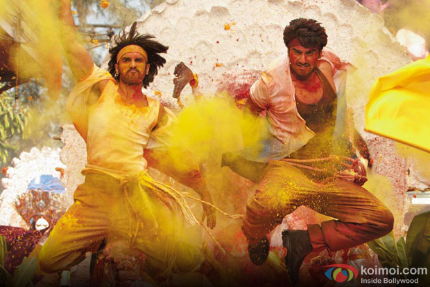 Ranveer Singh and Arjun Kapoor in a still from movie 'Gunday'