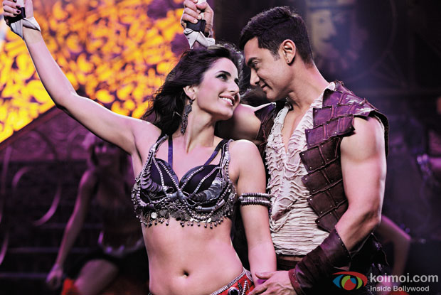 Katrina Kaif and Aamir Khan in a still from movie 'Dhoom 3'
