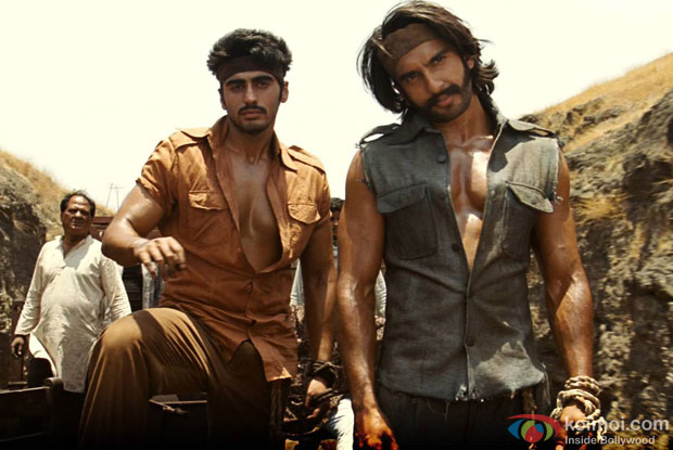 Arjun Kapoor and Ranveer Singh in a still from movie 'Gunday'