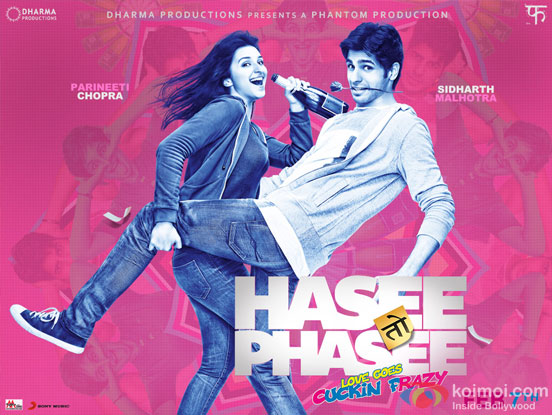 Parineeti Chopra and Sidharth Malhotra in a 'Hasee Toh Phasee' Movie Poster