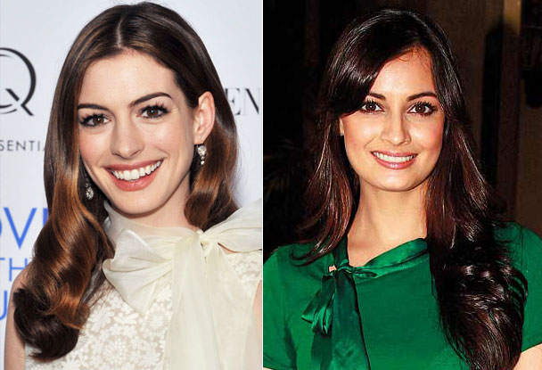 Anne Hathway and Dia Mirza