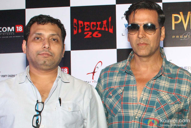Neeraj Pandey and Akshay Kumar at an event