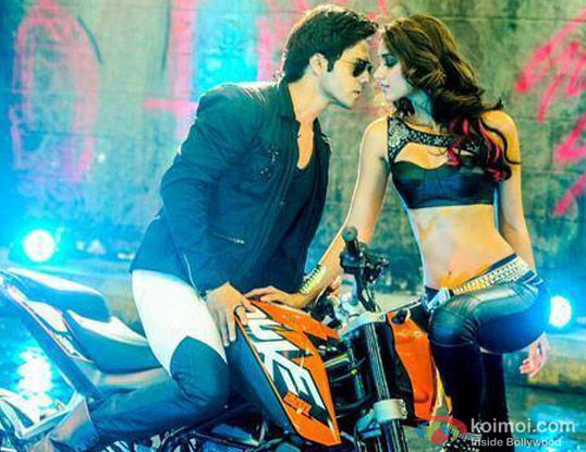 Varun Dhawan and Ileana Dcruz in a 'Besharmi Ki Height' song still from movie 'Main Tera Hero'