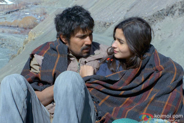 Randeep Hooda and Alia Bhatt in a still from movie 'Highway'