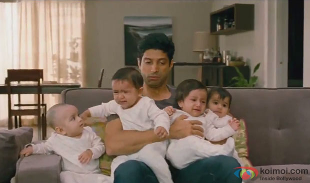 Farhan Akhtar in a still from movie 'Shaadi Ke Side Effects'