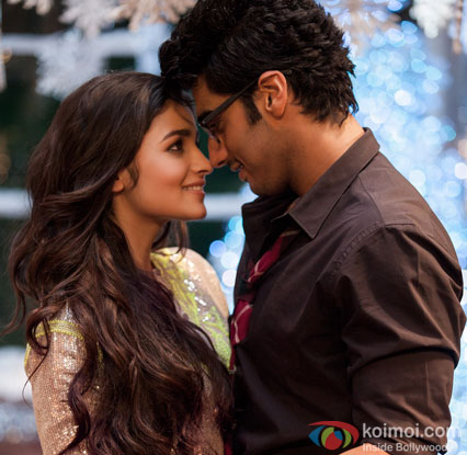 Alia Bhatt and Arjun Kapoor in a still from movie '2 States'