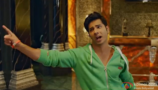 Varun Dhawan Badtameez Dil on the sets of Main Tera Hero