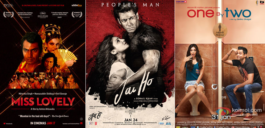 Miss Lovely, Jai Ho and One By Two Movie Poster