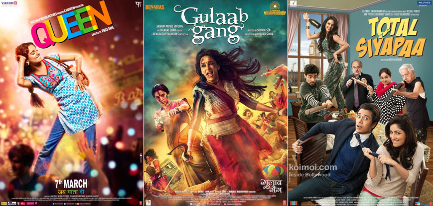 Queen, Gulaab Gang and Total Siyapaa Movie Poster