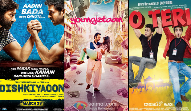 Dishkiyaoon', 'Youngistaan' and 'O Teri' Movie Poster