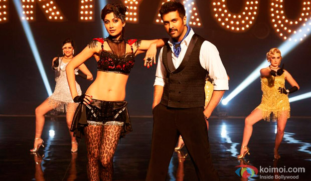 Shilpa Shetty and Harman Baweja in a still from movie 'Dishkiyaoon'