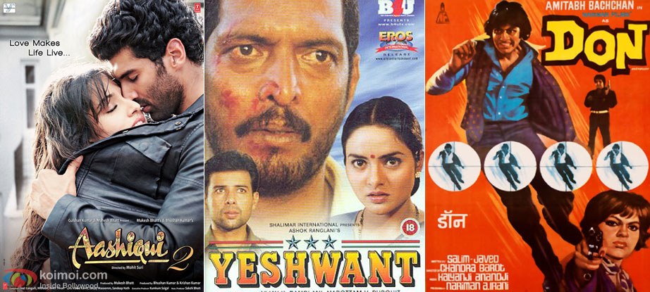 Aashiqui 2 (2013), Yeshwant (1997) and Don (1978) Movie Poster
