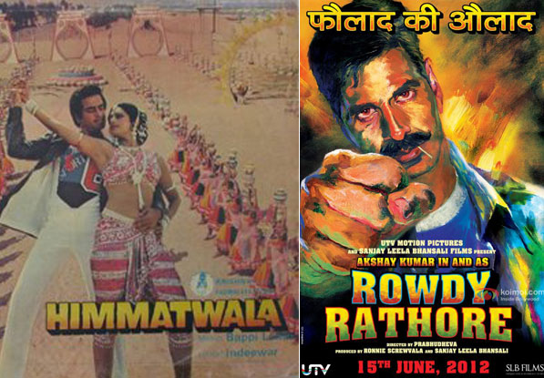 Himmatwala (1983) and Rowdy Rathore (2012) Movie Poster