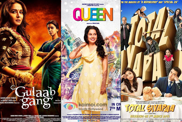 Gulaab Gang, Queen and Total Siyappa Movie Poster