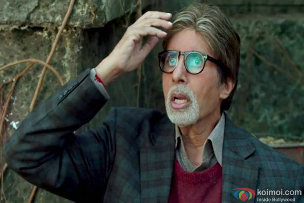 Amitabh Bachchan in a still from movie 'Bhoothnath Returns'