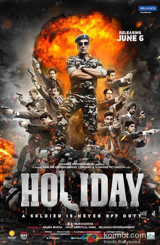 Akshay Kumar in a 'Holiday' Movie Poster