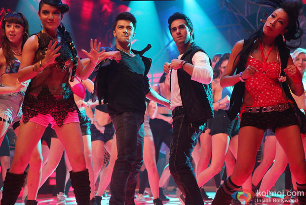 Bilal Amrohi and Pulkit Samrat in a still from movie 'O Teri'