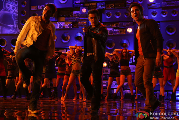 Pulkit Samrat, Salman Khan and Bilal Amrohi shoot the song with old radio sets still from movie 'O Teri'