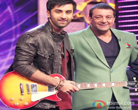 Ranbir Kapoor and Sanjay Dutt