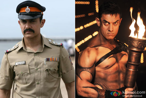 Aamir Khan in a still from movie 'Talaash' and 'Dhoom 3'