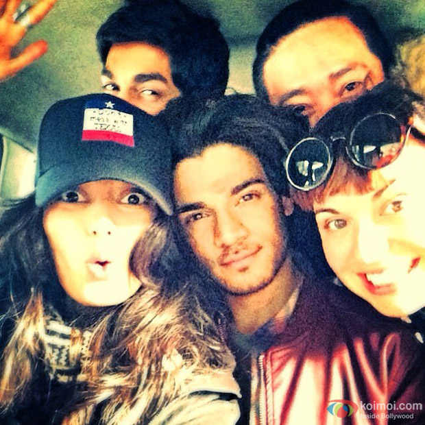 Athiya Shetty and Sooraj Pancholi On The Sets Of 'Hero'