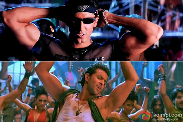 Hrithik Roshan in a still from movie Kaho Naa... Pyaar Hai and Dhoom 2