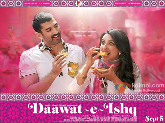 Aditya Roy Kapur and Parineeti Chopra in a first look poster of movie 'Daawat-E-Ishq'