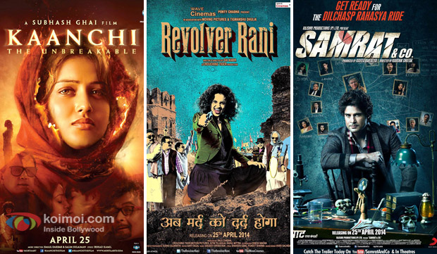 'Kaanchi', 'Revolver Rani' and 'Samrat & Co.' Movie Poster