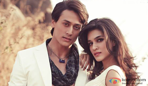 Tiger Shroff and Kriti Sanon in a still from movie 'Heropanti'