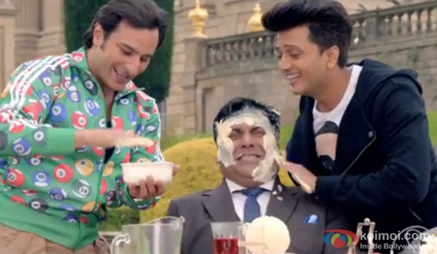 Saif Ali Khan, Ram Kapoor and Ritesh Deshmukh in a still from movie 'Humshakals'