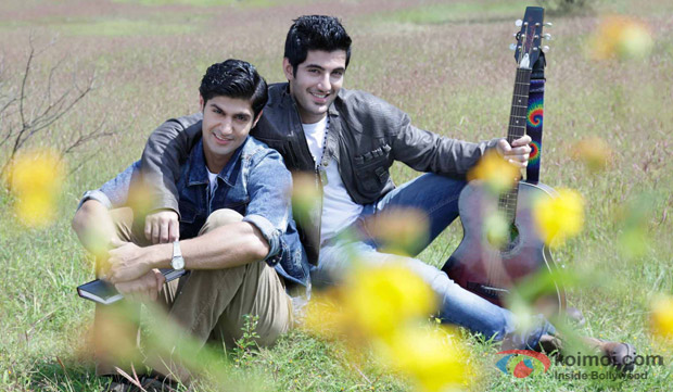 Tanuj Virwani and Aditya Seal in a still from movie 'Purani Jeans'