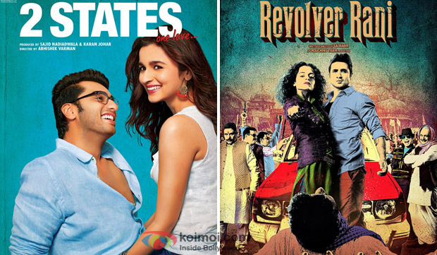 '2 States' and 'Revolver Rani' Movie Poster