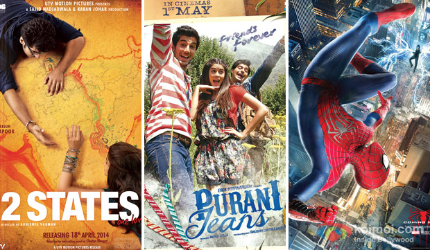 '2 States', 'Purani Jeans', and 'The Amazing Spider-Man 2' Movie Poster