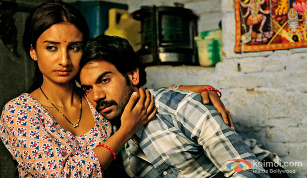 Raj Kumar Yadav and Patralekha in a still from movie'Citylights'