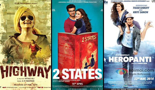 Highway, 2 States and Heropanti Movie Poster