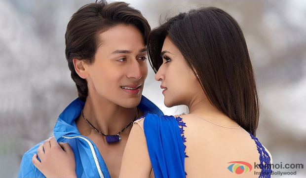 Tiger Shroff and Kriti Sanon in a 'Rabba' song still from movie 'Heropanti'