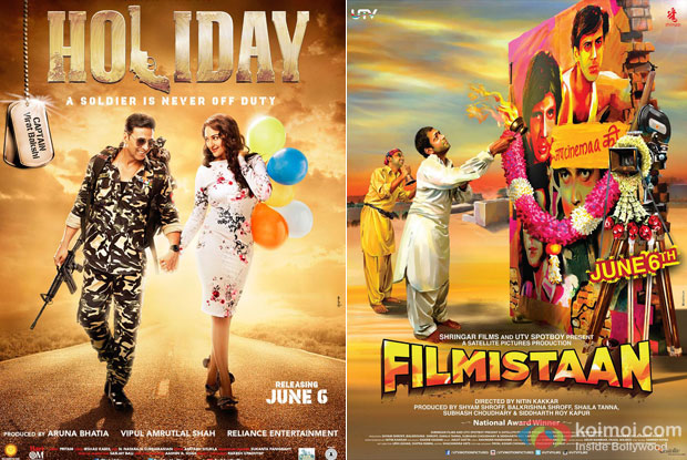 'Holiday – A Soldier Is Never Off Duty' and 'Filmistaan' Movie Poster